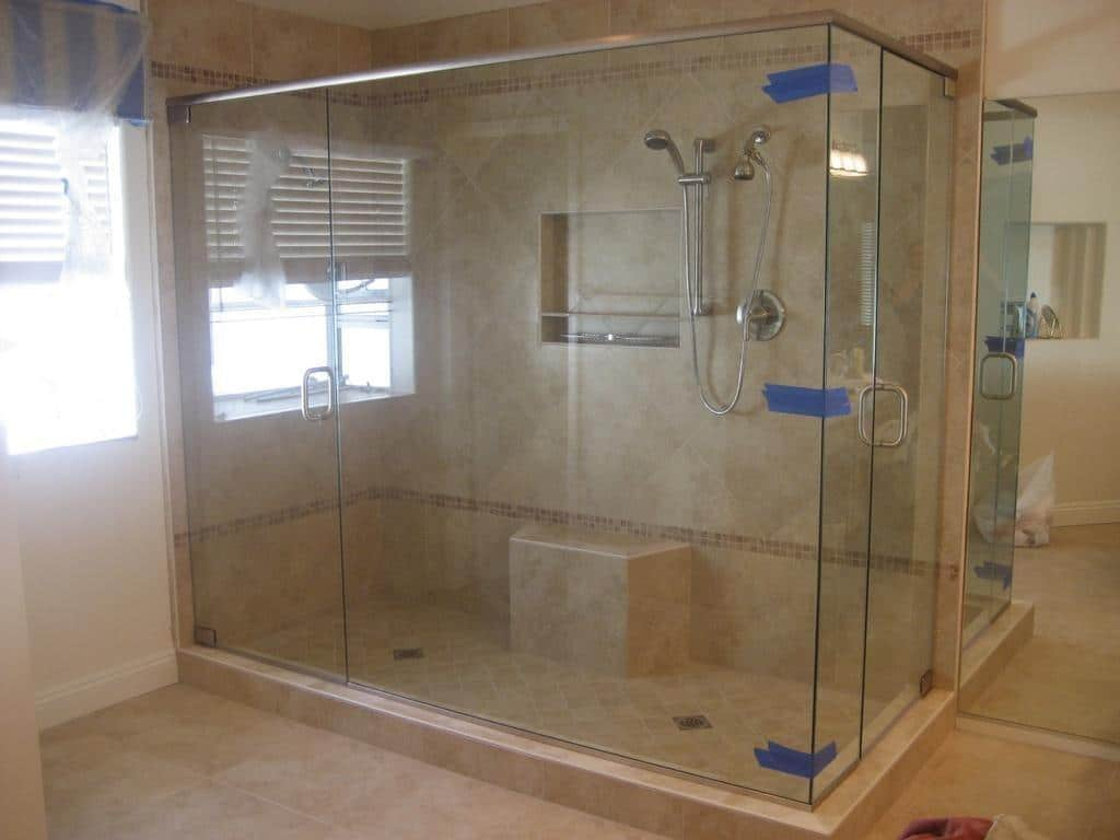Shower doors tub enclosures harbor all glass mirror for Custom tubs and showers