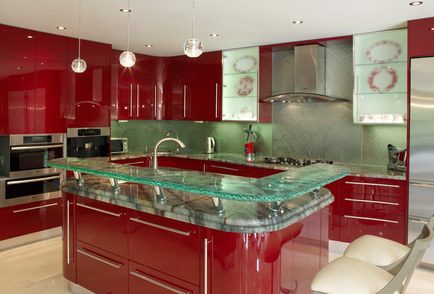 Counter glass harbor all glass mirror inc for All glass kitchen cabinets